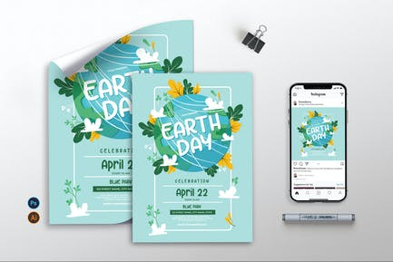 Earth Day Celebration - Flyer, Poster & IG AS