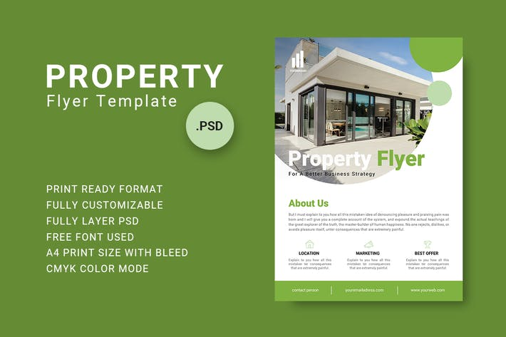 Thumbnail for Property Flyer Template