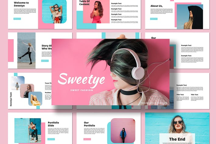 Thumbnail for Sweety - Google Slides Template