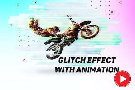 Glitch effect with GIF animation 2