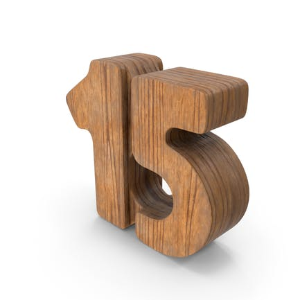 15 Wooden Number