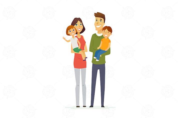 Thumbnail for Familie - moderne Vektor illustration