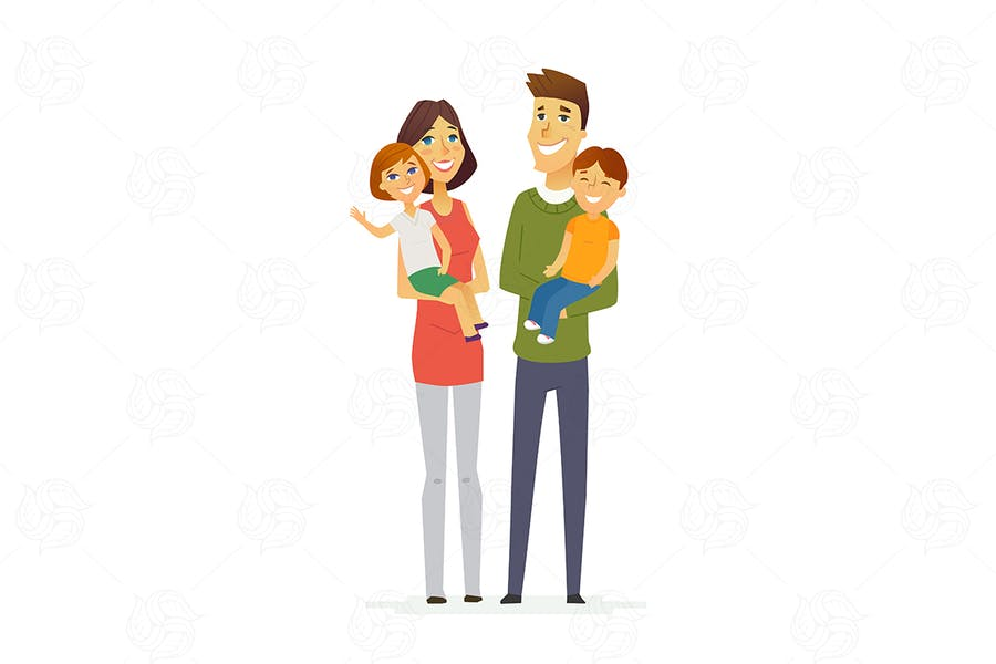 Family - modern vector illustration