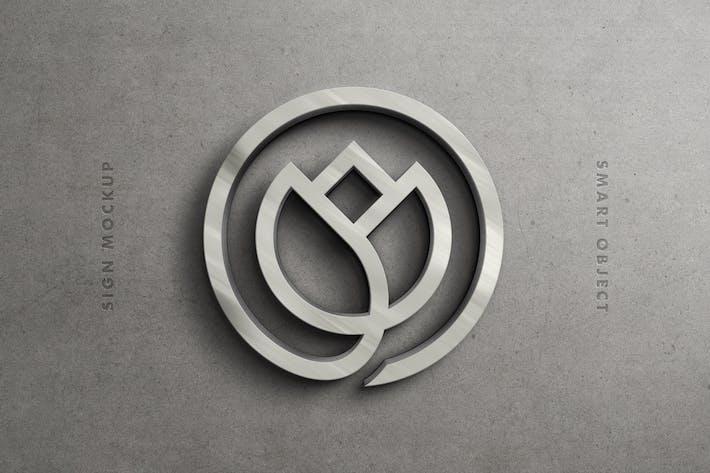Sterling Silver Logo Mockup