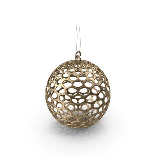 Thumbnail for Gold Mesh Christmas Ornament
