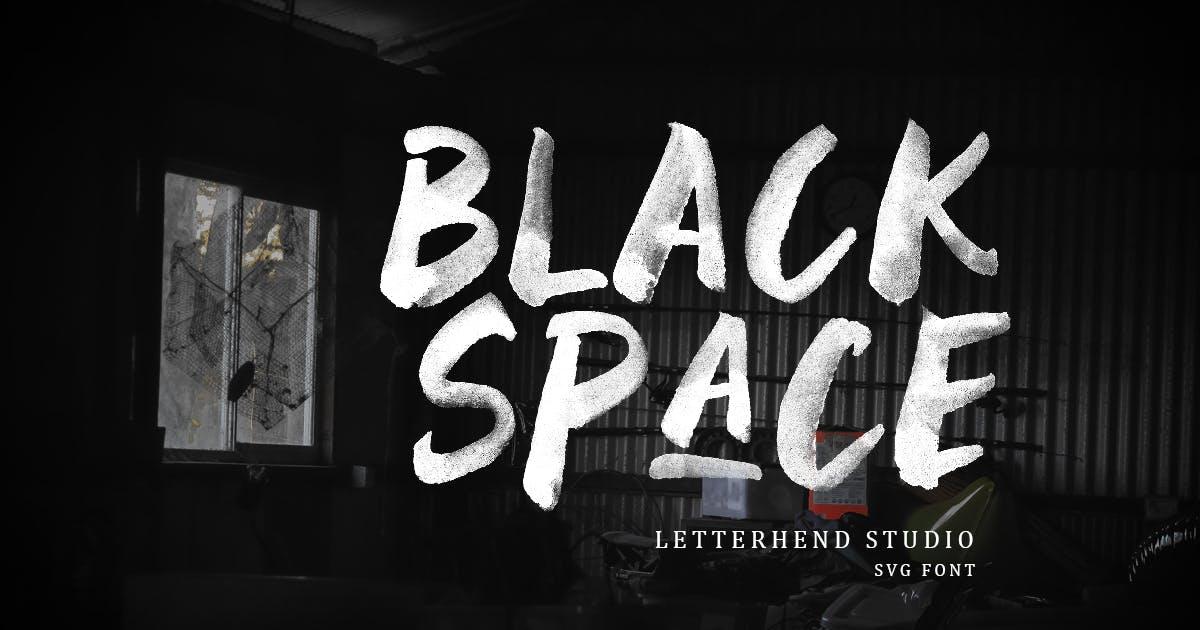 Download Black Space SVG Font by letterhend
