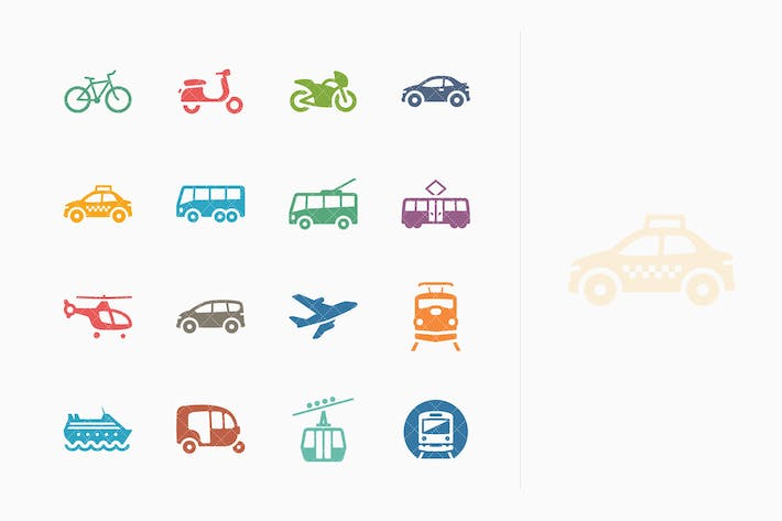 Thumbnail for Transportation Icons - Colored Series