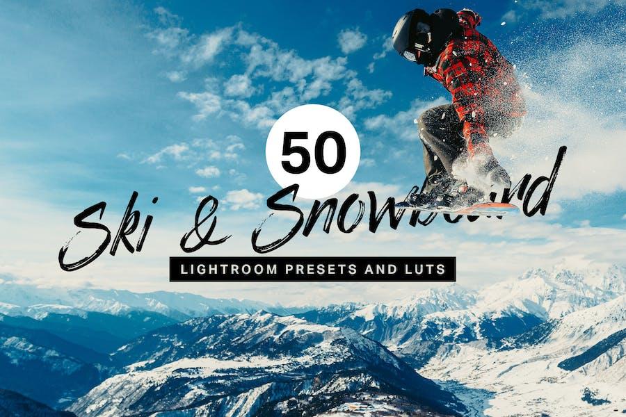 50 Ski & Snowboard Lightroom Presets