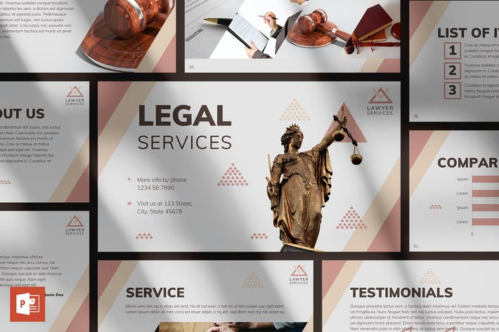 Thumbnail for Legal Services PowerPoint Presentation Template