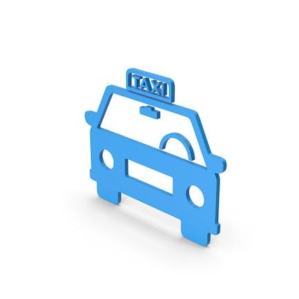 Symbol Taxi Blue