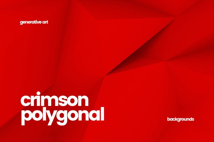 Thumbnail for Crimson Polygon Backgrounds