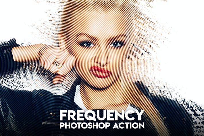 Thumbnail for Frequency Photoshop Action