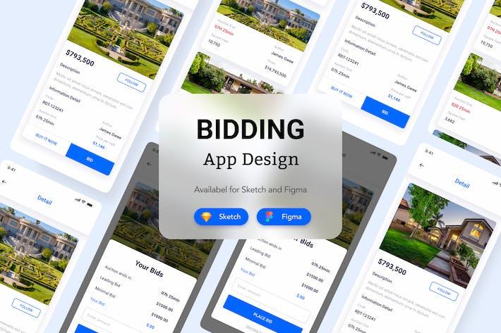 Thumbnail for Bidding App Design