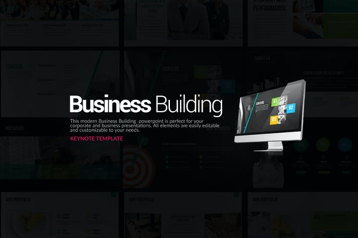 Thumbnail for Business Building Keynote Templates