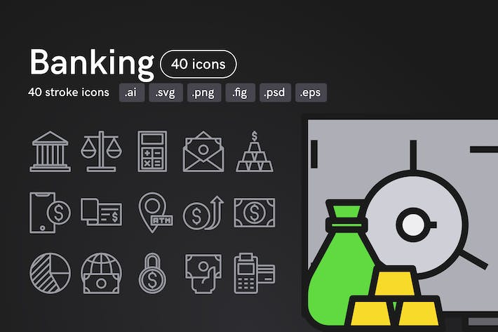Thumbnail for Banking Icons
