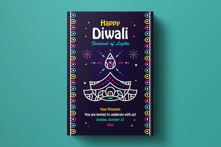 Thumbnail for Diwali Flyer Vorlage