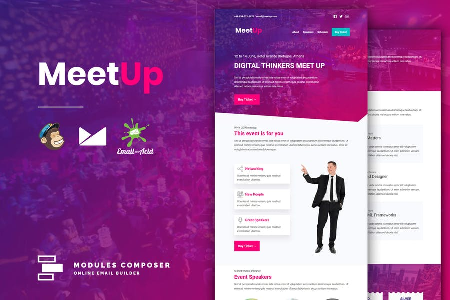 MeetUp - Event / Conference Responsive Email
