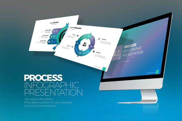 Thumbnail for Process Infographic  Vol.2 PPTX