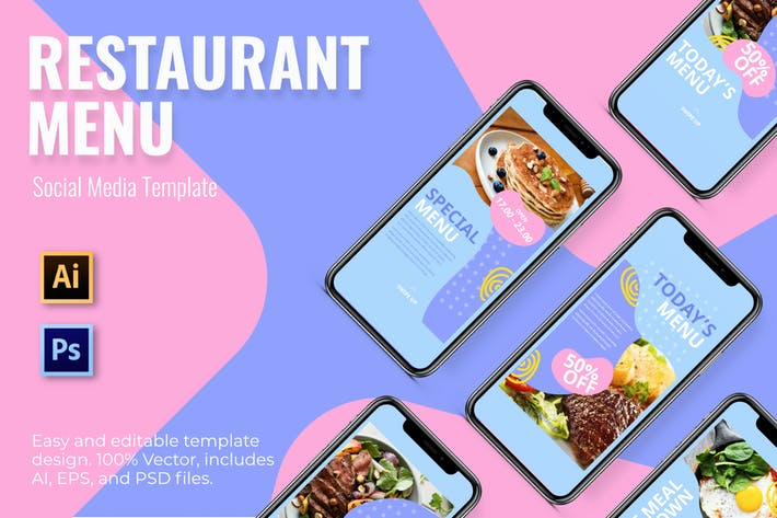 Thumbnail for Food Social Media Template