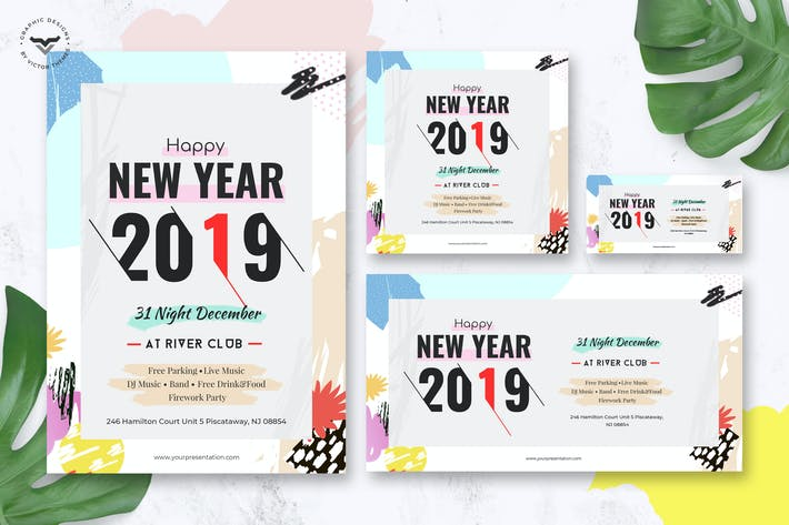 Thumbnail for New Year Flyer & Social Media Pack