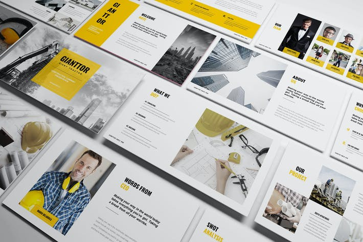 Construction Powerpoint Template By Incools On Envato Elements