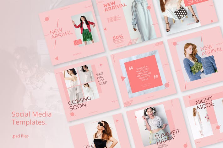 Thumbnail for Social Media Kit Fashion Minimalis