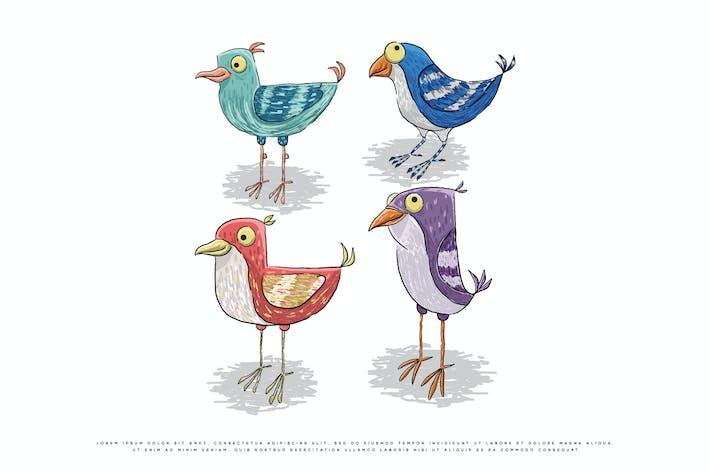 vintage vector illustration of a bird