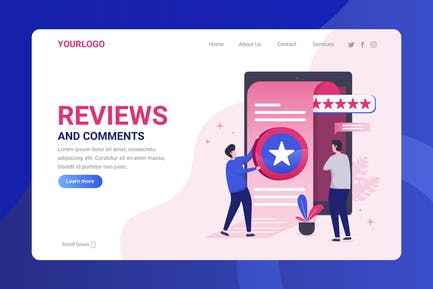 Reviews and Comment - Landing Page
