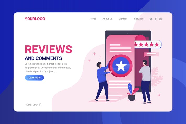 Thumbnail for Reviews and Comment - Landing Page