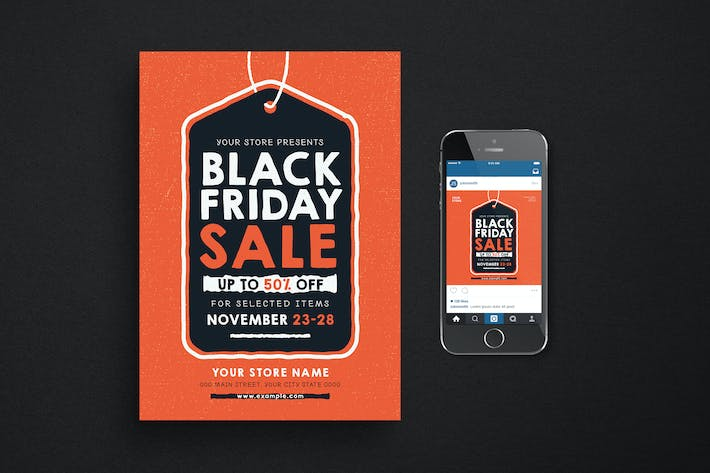 Thumbnail for Black Friday Flyer + Instagram Post
