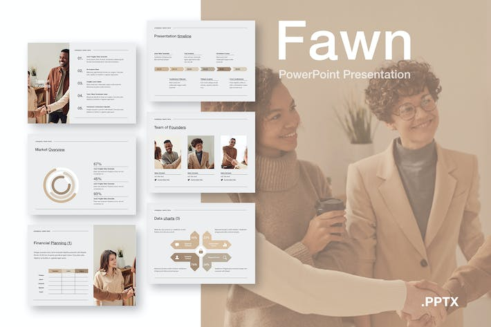 Thumbnail for Fawn PowerPoint Template