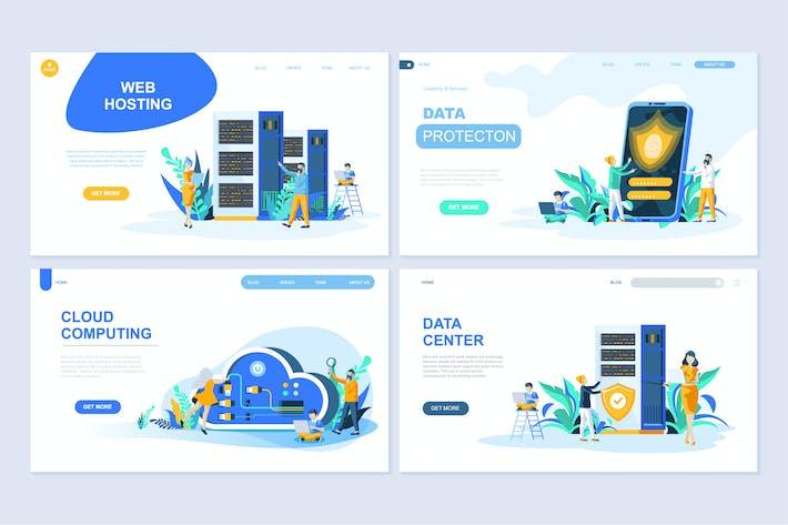 Thumbnail for Flat Design Concept Website Landing Page