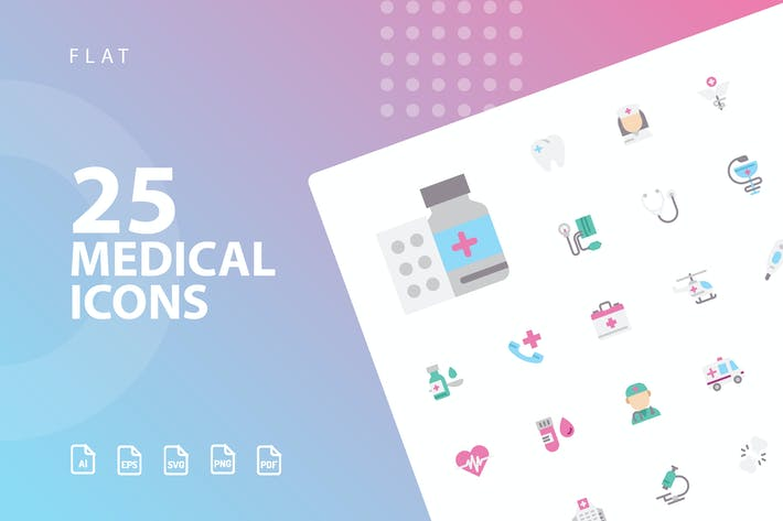 Thumbnail for Medical Flat Icons