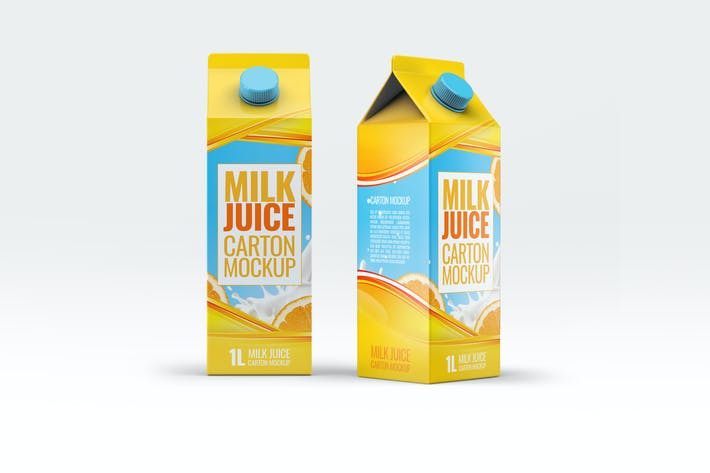 Thumbnail for Milk or Juice Carton Mock-Up v.3