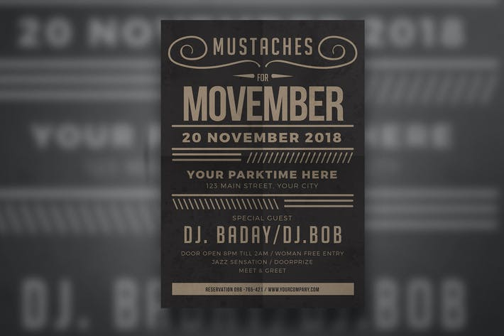 Thumbnail for Movember Fest Flyer