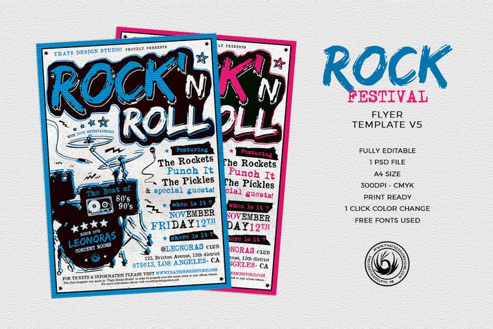 Thumbnail for Rock Festival Flyer Template V5