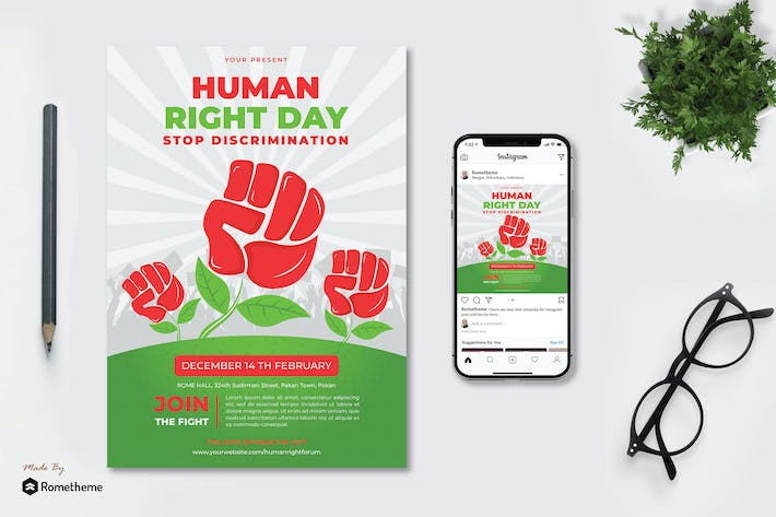 Human Right Day - Flyer KF