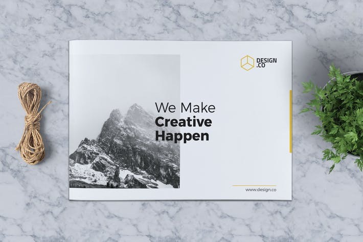 Cover Image For Creative Brochure Template A5 Vol. 07
