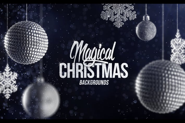 Cover Image For 4 Christmas Backgrounds with Editable Text