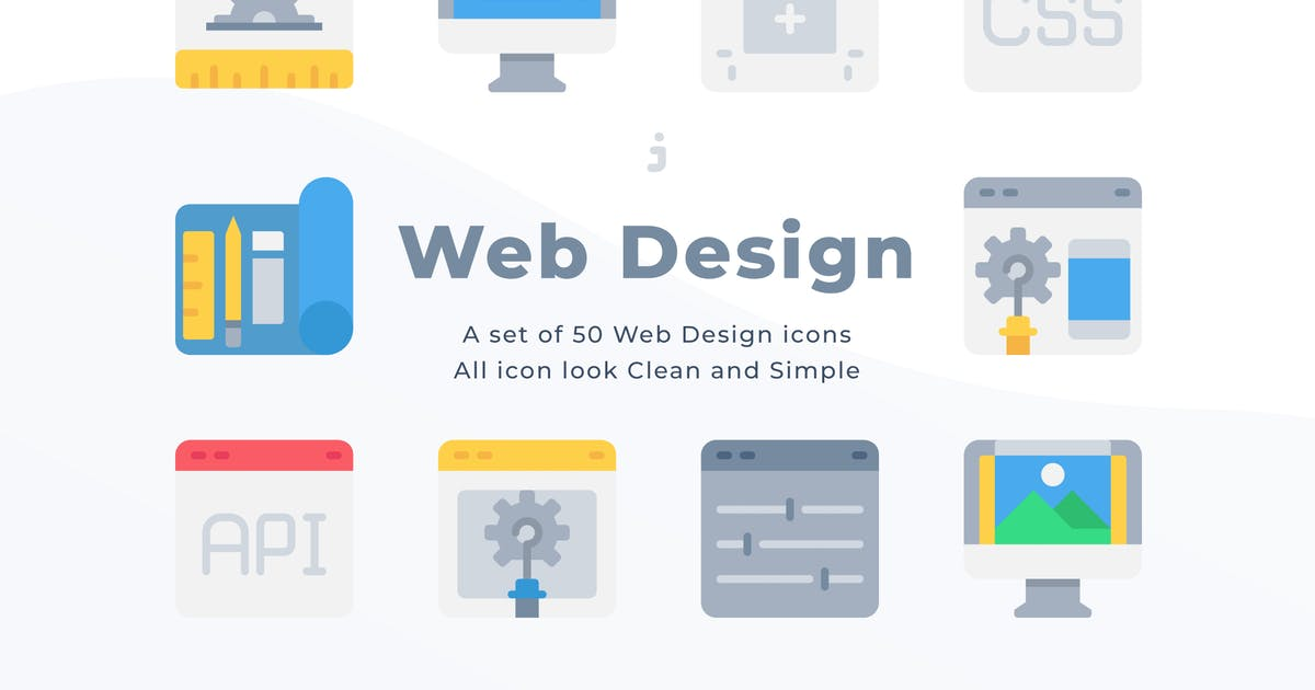 Download 50 Web Design and Development icons - Flat by Justicon