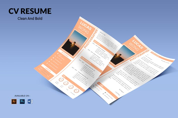 Thumbnail for CV Resume Clean And Minimal