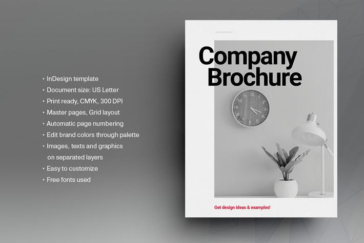 Black and White Modern Brochure