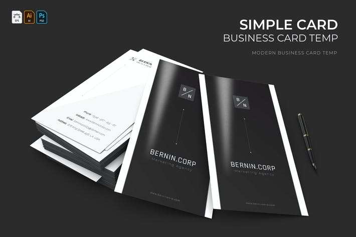 Thumbnail for Simple Card   Business Card