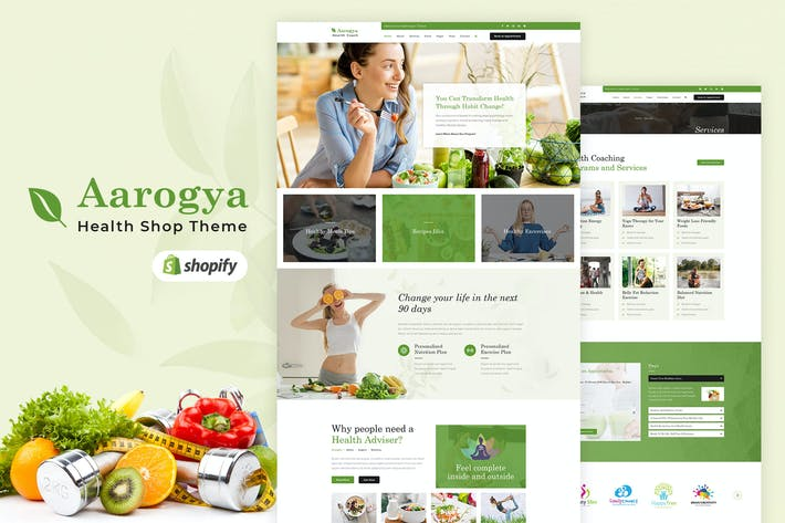 Thumbnail for Aarogya | Shopify Health Care Store Tema