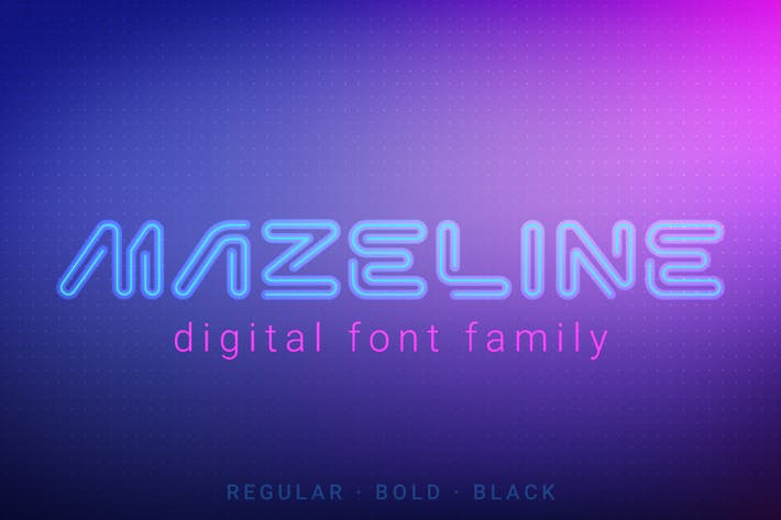 Thumbnail for Mazeline Font