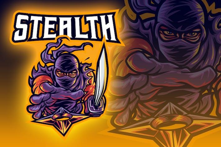 Thumbnail for Ninja Throwing Shuriken Esport Logo