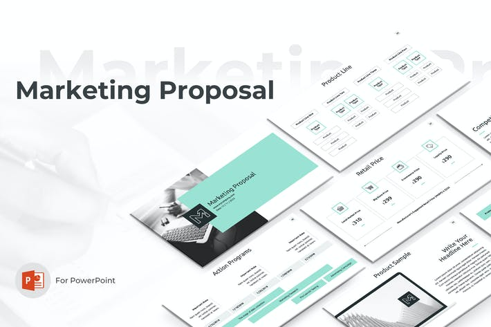 Thumbnail for Marketing Proposal PowerPoint Template