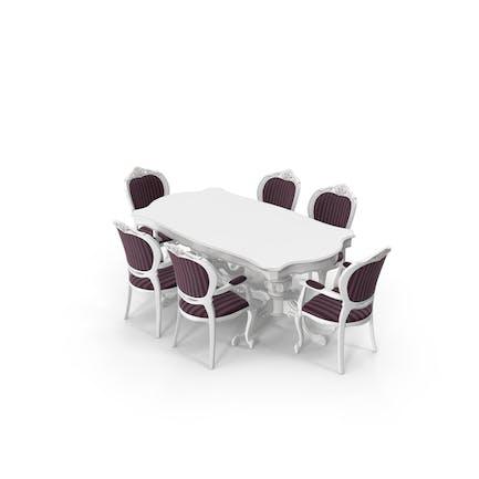 Klassisch Esstisch und Stuhl Set