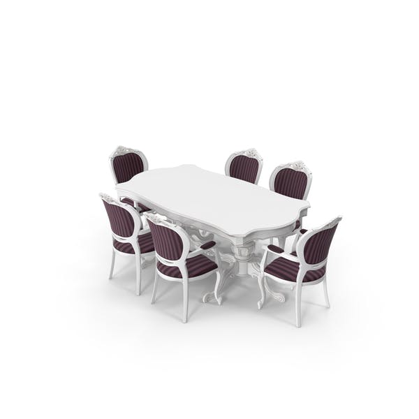 Thumbnail for Classical Dining Table & Chair Set