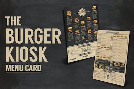 Burger Kiosk Menu